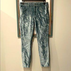 Anthro Pilcro & Letterpress Velvet High Rise Pants